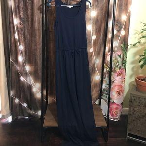 GAP navy blue maxi dress